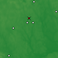 Nearby Forecast Locations - Iwanowo - mapa