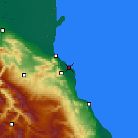 Nearby Forecast Locations - Kaspijsk - mapa