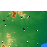Nearby Forecast Locations - Tiruchirapalli - mapa