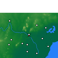 Nearby Forecast Locations - Widźajawada - mapa