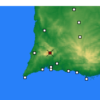 Nearby Forecast Locations - Monchique - mapa