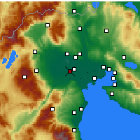 Nearby Forecast Locations - Aleksandria - mapa