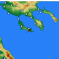 Nearby Forecast Locations - Pallini - mapa