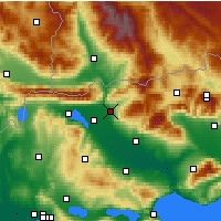Nearby Forecast Locations - Sidirokastro - mapa