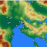 Nearby Forecast Locations - Triandria - mapa