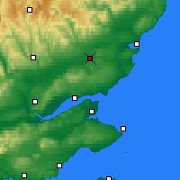 Nearby Forecast Locations - Forfar - mapa