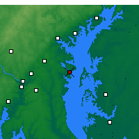 Nearby Forecast Locations - Annapolis - mapa