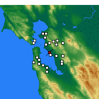 Nearby Forecast Locations - Alameda - mapa