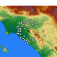 Nearby Forecast Locations - Anaheim - mapa