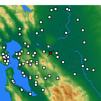 Nearby Forecast Locations - Antioch - mapa
