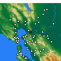Nearby Forecast Locations - Benicia - mapa
