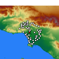 Nearby Forecast Locations - Beverly Hills - mapa