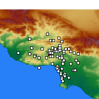 Nearby Forecast Locations - Canoga Park - mapa