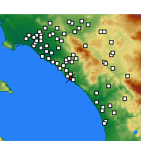 Nearby Forecast Locations - Capistrano Beach - mapa