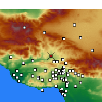 Nearby Forecast Locations - Castaic - mapa