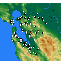 Nearby Forecast Locations - Castro Valley - mapa
