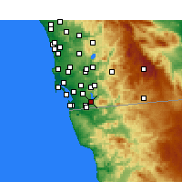 Nearby Forecast Locations - Chula Vista - mapa