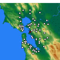 Nearby Forecast Locations - Emeryville - mapa