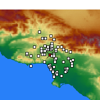 Nearby Forecast Locations - Encino - mapa