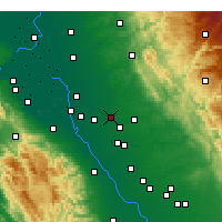 Nearby Forecast Locations - Escalon - mapa