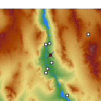 Nearby Forecast Locations - Fort Mohave - mapa