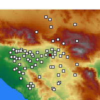 Nearby Forecast Locations - Grand Terrace - mapa