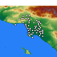 Nearby Forecast Locations - Hermosa Beach - mapa