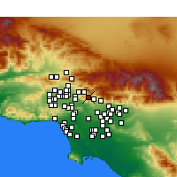 Nearby Forecast Locations - La Crescenta-Montrose - mapa
