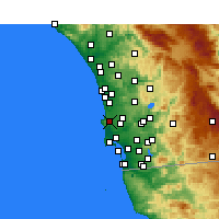 Nearby Forecast Locations - La Jolla - mapa