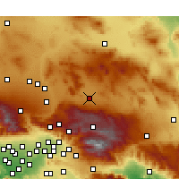 Nearby Forecast Locations - Lucerne Valley - mapa