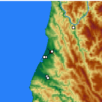 Nearby Forecast Locations - Mckinleyville - mapa