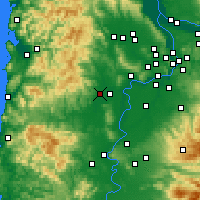 Nearby Forecast Locations - McMinnville - mapa