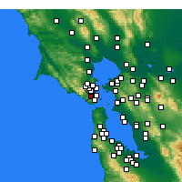 Nearby Forecast Locations - Mill Valley - mapa