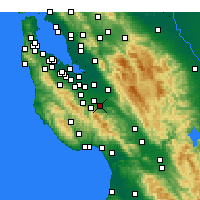Nearby Forecast Locations - Milpitas - mapa