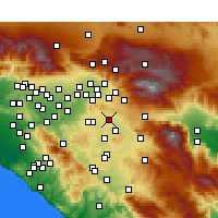 Nearby Forecast Locations - Moreno Valley - mapa