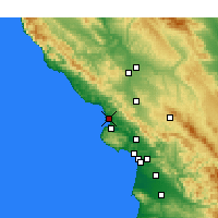 Nearby Forecast Locations - Morro Bay - mapa