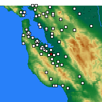 Nearby Forecast Locations - Mountain View - mapa
