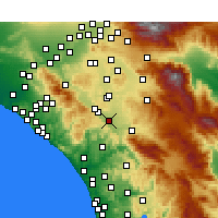 Nearby Forecast Locations - Murrieta - mapa