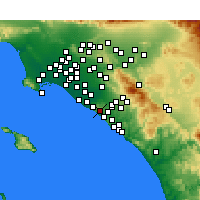 Nearby Forecast Locations - Newport Coast - mapa