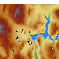 Nearby Forecast Locations - North Las Vegas - mapa
