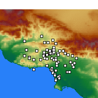 Nearby Forecast Locations - Northridge - mapa