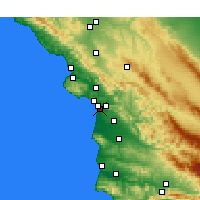 Nearby Forecast Locations - Oceano - mapa