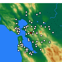 Nearby Forecast Locations - Orinda - mapa