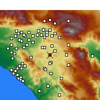 Nearby Forecast Locations - Perris - mapa
