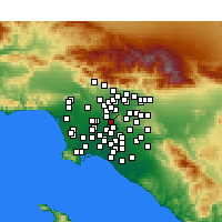 Nearby Forecast Locations - Pico Rivera - mapa