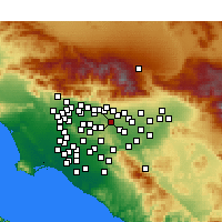 Nearby Forecast Locations - Pomona - mapa