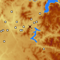Nearby Forecast Locations - Post Falls - mapa