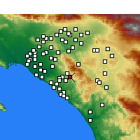 Nearby Forecast Locations - Rancho Santa Margarita - mapa
