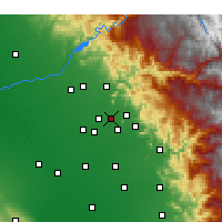 Nearby Forecast Locations - Reedley - mapa