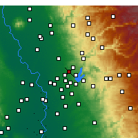 Nearby Forecast Locations - Rocklin - mapa